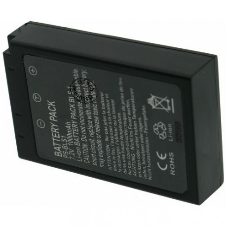 Batterie pour OLYMPUS PS-BLS1 black 7.2V Li-Ion 1700mAh
