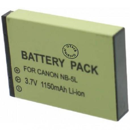 Batterie pour CANON NB-5LH 3.7V Li-Ion 1120mAh