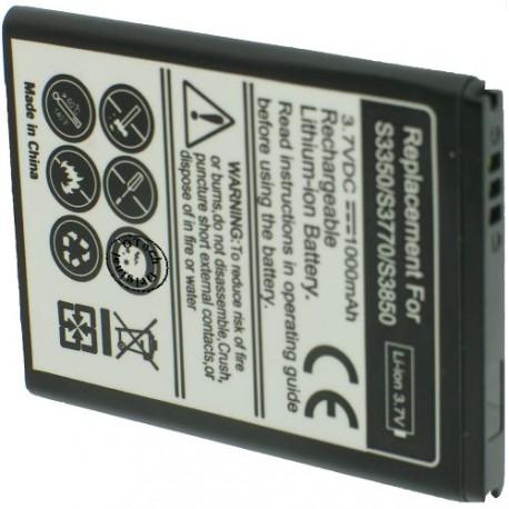 Batterie pour SAMSUNG S3350 / S3770 / S3850 / EB424255VA 3.7V Li-Ion 1000mAh