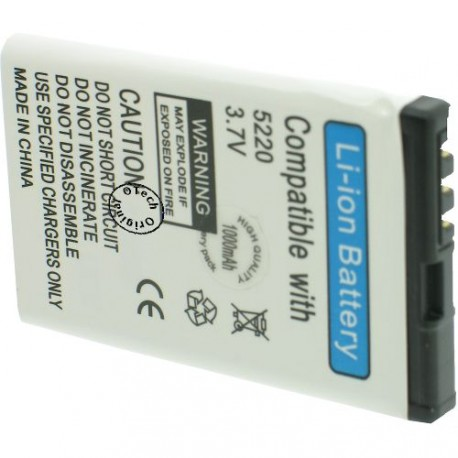 Batterie pour NOKIA BL-5CT 3.7V 1100mAh