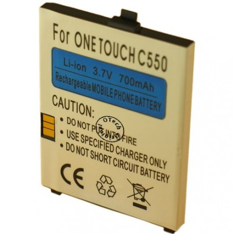 Batterie pour ONE TOUCH C550 3.7V Li-Ion 700mAh